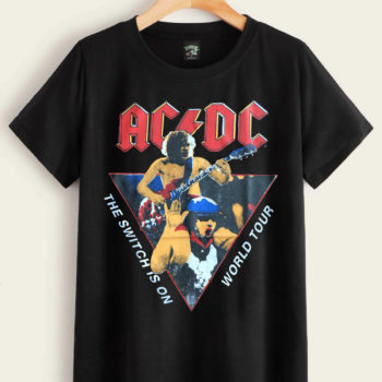 ACDC Flick Of The Switch Shirt Rock Band Shirts Vintage