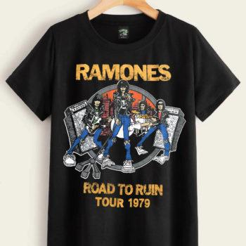 Ramones Road To Ruin Tour 1979 Shirt Rock Band Shirts Vintage